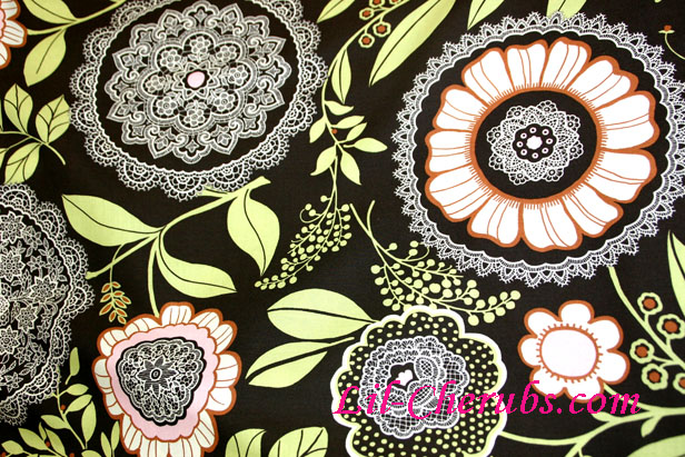 Amy Butler Lotus Lacework Olive Fabric - Click Image to Close