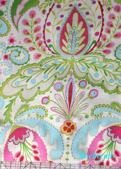 Dena designs kumari garden teja pink fabric ebay for Kumari garden fabric by dena designs